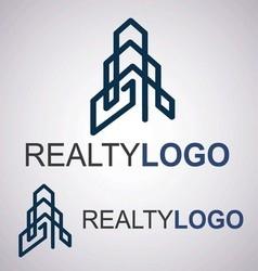 realty logo 6 4 vector image vector image