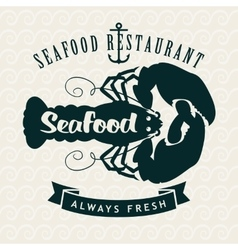 Restaurants or seafood shops vector