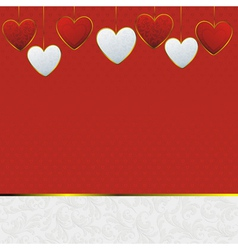 valentines heart card vector image