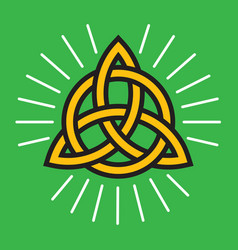 celtic knot eternity symbol vector image vector image