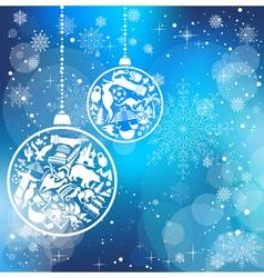 Christmas card with landmarks symbols vector image