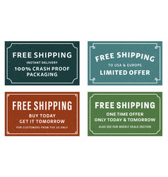 free shipping stickers vector image