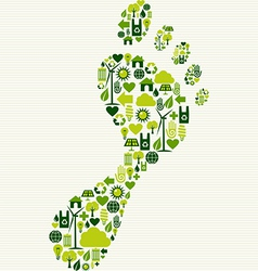 Green icons foot design vector image vector image