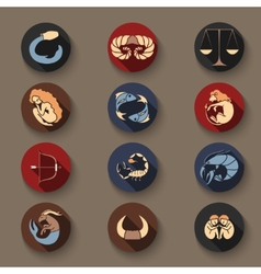 Set of zodiac icons vector image