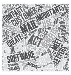 The Benefits Of ACT text background wordcloud vector image vector image