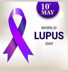 World Lupus Day Purple Ribbon vector image