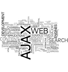 ajax seo are they compatible text word cloud vector image vector image