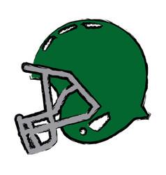 American football helmet equipment protection vector