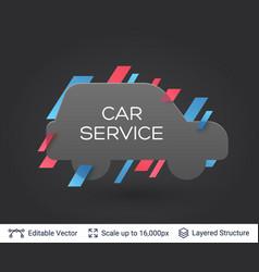 black badge car sticker vector image vector image