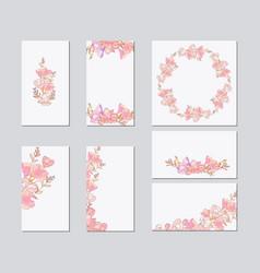 colorful greeting wedding invitation card vector image