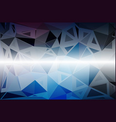 Deep and pale blue random sizes low poly vector