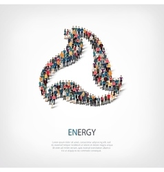 Energy people sign 3d vector