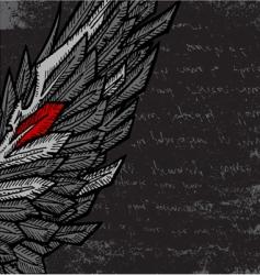 half wing vector image