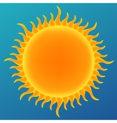 Shiny sun in the blue sky vector image vector image