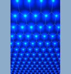 Abstract blue hexagon pattern backdrop for design vector