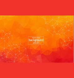 abstract orange geometric polygonal background vector image
