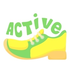 Active walking icon cartoon style vector
