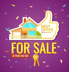 Ad poster sale of real estate vector
