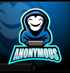 Anonymous mascot esport logo design vector