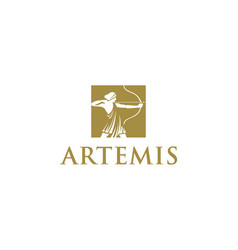 Artemis logo design concept vector