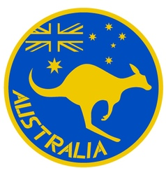 Australia sign vector image
