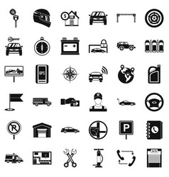 Auto garage icons set simple style vector