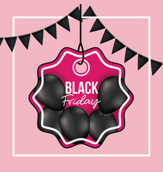 background with white frame and pink background vector image