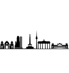 Berlin city skyline germany vector