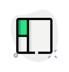 Box with sides sectioned in parts layout vector