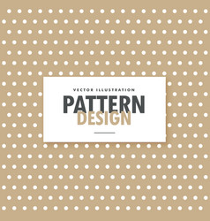 Brown polka background design vector