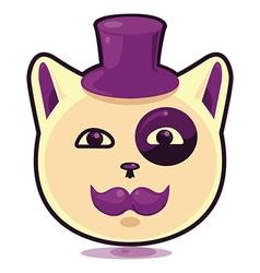 Cartoon cat in the hat vector image