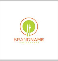 circle fruit food logo catering logo vector image