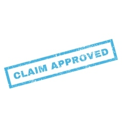 Claim Approved Rubber Stamp vector image