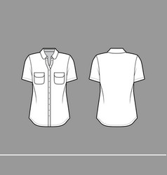 classic shirt technical fashion vector image