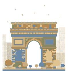 Color Arch of Triumph Paris vector image