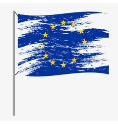 Color european union flag grunge style eps10 vector