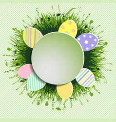 colorful easter background vector image