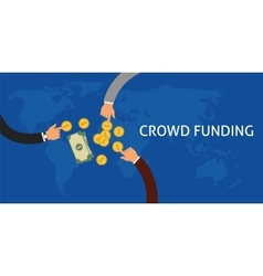 Crowdfunding vector image