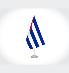 Cuba flag on white background vector