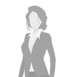 default placeholder businesswoman half-length por vector image
