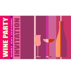 Design for wine event Wine event party invitation vector image