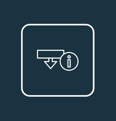 Download information icon line symbol premium vector