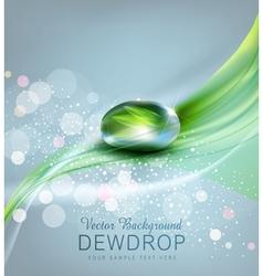 Drop dew and reflection sheet in dew drop vector