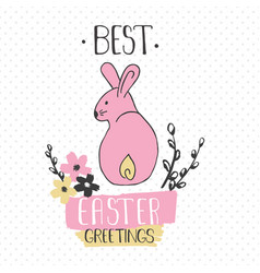 Easter greeting card - best easter greetings vector