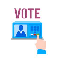 electronic ballot box isolated vector image