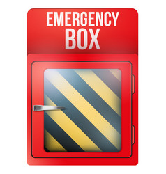 Empty red box with in case of emergency vector