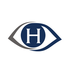 Eye care solutions letter h vector