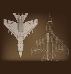 Fighter on a brown vector