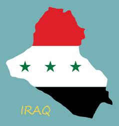 Flag map iraq vector