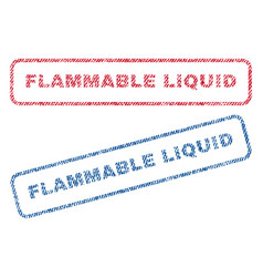 Flammable liquid textile stamps vector